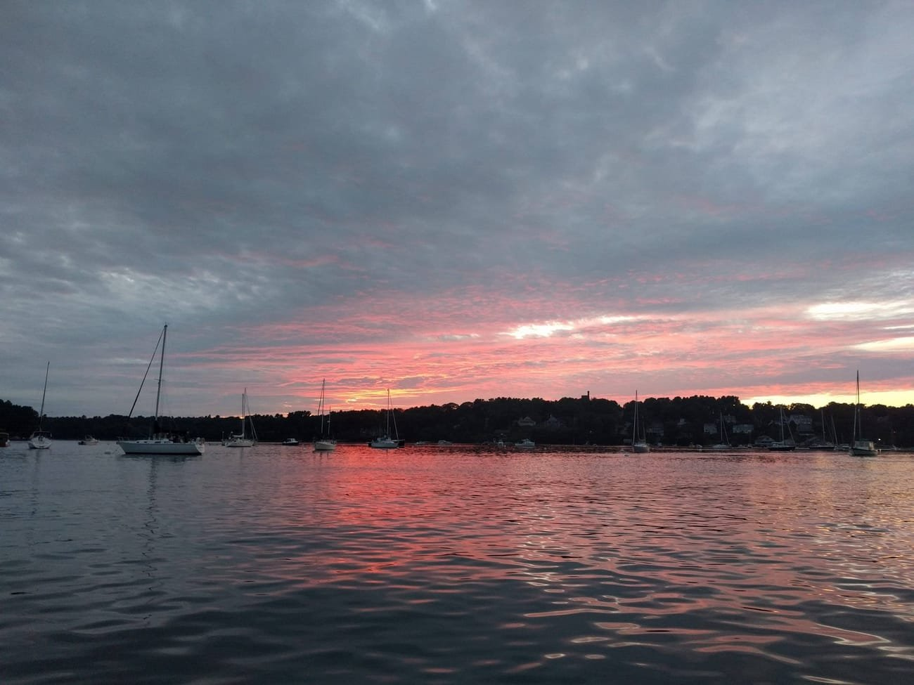 freeport harbor sunset